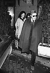 MARCELLO MASTROIANNI E FLORA CLARABELLA -  RISTORANTE MATRICIANO ROMA 1974