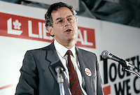 Francis Fox supporting  Liberal candidate for LaSalle-Emard : Paul Martin , September 1, 1988.<br /> file photo