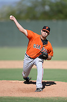 San Francisco Giants pitcher Kyle Crick (38) during an instructional league game against the Oakland Athletics on September 27, 2013 at Papago Park Baseball Complex in Phoenix, Arizona.  (Mike Janes/Four Seam Images)