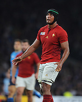 Thierry Dusautoir of France during Match 5 of the Rugby World Cup 2015 between France and Italy - 19/09/2015 - Twickenham Stadium, London <br /> Mandatory Credit: Rob Munro/Stewart Communications