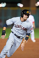 Mesa Solar Sox Bradley Zimmer (7), of the Cleveland Indians organization, during a game against the Scottsdale Scorpions on October 17, 2016 at Scottsdale Stadium in Scottsdale, Arizona.  Mesa defeated Scottsdale 12-2.  (Mike Janes/Four Seam Images)