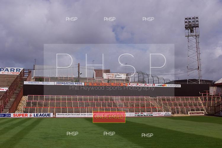23/06/2000 Blackpool FC Bloomfield Road Ground..Kop away section.....© Phill Heywood.