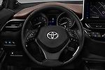 Car pictures of steering wheel view of a 2017 Toyota C-HR C-Show 5 Door SUV Steering Wheel