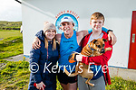 John O'Sullivan stands with his wife Martina and son Brendan and their dog Loki having completed the Virtual Dublin Marathon in Banna on Sunday in 3 hours and 30 minutes..