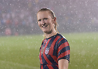 EAST HARTFORD, CT - JULY 1: Samantha Mewis #3 of the USWNT looks in the crowd during a game between Mexico and USWNT at Rentschler Field on July 1, 2021 in East Hartford, Connecticut.