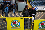 Blackburn Rovers 3 Shrewsbury Town 1, 14/01/2018. Ewood Park, League One. Home fans making their way into the ground before Blackburn Rovers played Shrewsbury Town in a Sky Bet League One fixture at Ewood Park. Both team were in the top three in the division at the start of the game. Blackburn won the match by 3 goals to 1, watched by a crowd of 13,579. Photo by Colin McPherson.