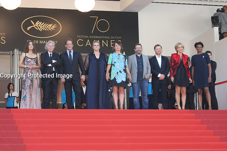 IZIA HIGELIN, DIRECTOR JACQUES DOILLON, VINCENT LINDON, SEVERINE CANEELE AND VALERIE PECRESSE - RED CARPET OF THE FILM 'RODIN' AT THE 70TH FESTIVAL OF CANNES 2017