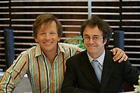 Andre-Philippe Gagnon et Stephane Laporte,Septembre 2005<br /> <br /> PHOTO : Agence Quebec Presse