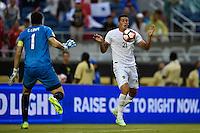 Orlando, FL - Monday June 06, 2016: Bolivia defender Ronald Eguino (21) during a Copa America Centenario Group D match between Panama (PAN) and Bolivia (BOL) at Camping World Stadium.