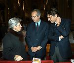 MARIA PIA GARAVAGLIA CON WALTER VELTRONI ED ENRICO GASBARRA<br /> MESSA DI RINGRAZIAMENTO PER I 50 ANNI DI SACERDOZIO DEL CARDINAL CAMILLO RUINI - SAN GIOVANNI IN LATERANO ROMA 2004