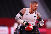 25th August 2021; Tokyo, Japan; Stuart ROBINSON (GBR), Wheelchair Rugby : Pool Phase Group B match between Great Britain - Canada during the Tokyo 2020 Paralympic Games at the Yoyogi National Gymnasium in Tokyo, Japan.