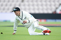 Trent Boult, New Zealand slides and fields during India vs New Zealand, ICC World Test Championship Final Cricket at The Hampshire Bowl on 22nd June 2021