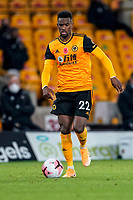 30th October 2020; Molineux Stadium, Wolverhampton, West Midlands, England; English Premier League Football, Wolverhampton Wanderers versus Crystal Palace; Nélson Semedo of Wolverhampton Wanderers brings the ball forward