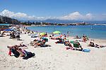 France, Provence-Alpes-Côte d'Azur, Antibes: beach | Frankreich, Provence-Alpes-Côte d'Azur, Antibes: Strand