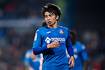 Gaku Shibasaki of Getafe CF reacts during the La Liga 2017-18 match between Getafe CF and Athletic Club at Coliseum Alfonso Perez on 19 January 2018 in Madrid, Spain. Photo by Diego Gonzalez / Power Sport Images