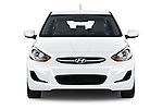 Car photography straight front view of a 2017 Hyundai Accent SE 6-Speed Automatic 5 Door Hatchback Front View