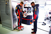 10th October 2020, Nuerburgring, Nuerburg, Germany; FIA Formula 1 Eifel Grand Prix, Qualifying sessions;  33 Max Verstappen NLD, Aston Martin Red Bull Racing is weighed