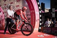 Jan Bakelants (BEL/Sunweb) being 'released' from the start podium<br /> <br /> Stage 1 (ITT): Bologna to Bologna/San Luca (8.2km)<br /> 102nd Giro d'Italia 2019<br /> <br /> ©kramon