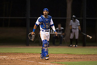 AZL Dodgers catcher Juan Zabala (54) during an Arizona League game against the AZL White Sox at Camelback Ranch on July 3, 2018 in Glendale, Arizona. The AZL Dodgers defeated the AZL White Sox by a score of 10-5. (Zachary Lucy/Four Seam Images)