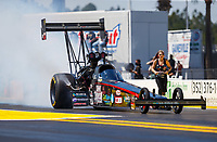 Mar 18, 2017; Gainesville , FL, USA; NHRA top fuel driver Scott Palmer during qualifying for the Gatornationals at Gainesville Raceway. Mandatory Credit: Mark J. Rebilas-USA TODAY Sports