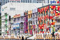 Street Scene along Jalan Tun Sambanthan, Little India, Brickfields, Kuala Lumpur, Malaysia.