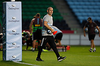 9th September 2020; Twickenham Stoop, London, England; Gallagher Premiership Rugby, London Irish versus Harlequins; Harlequins Head Coach Paul Gustard watches players during warm up