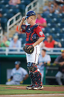 Fort Myers Miracle catcher Alex Swim (17) during a game against the Daytona Tortugas on June 17, 2015 at Hammond Stadium in Fort Myers, Florida.  Fort Myers defeated Daytona 9-5.  (Mike Janes/Four Seam Images)