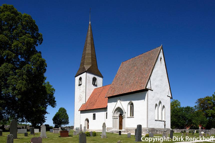 Kirche von Lummelunda auf der Insel Gotland, Schweden, Europa<br /> churhc in Lumelunda, Isle of Gotland, Sweden