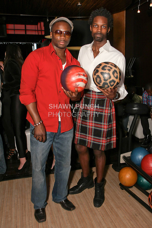 """Attendees pose at the Models International MTV """"Hired"""" tv premier party with A-List Entertainment, at Lucky Strike Lanes and Lounge on May 28, 2010."""