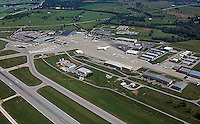 aerial photograph Blue Grass Airport, LEX, Lexington, Kentucky
