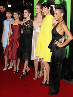 "LOS ANGELES, CA - FEBRUARY 04: Sami Gayle, Sarah Hyland, Zoey Deutch, Lucy Fry, Olga Kurylenko, Dominique Tipper at the Los Angeles Premiere Of The Weinstein Company's ""Vampire Academy"" held at Regal Cinemas L.A. Live on February 4, 2014 in Los Angeles, California. (Photo by Xavier Collin/Celebrity Monitor)"