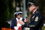 Command Sgt. Maj. Michael Spaulding speaks at the Nevada National Guard's 23rd annual Flag Day ceremony in Carson City, Nev., on Monday, June 14, 2021. <br /> Photo by Cathleen Allison