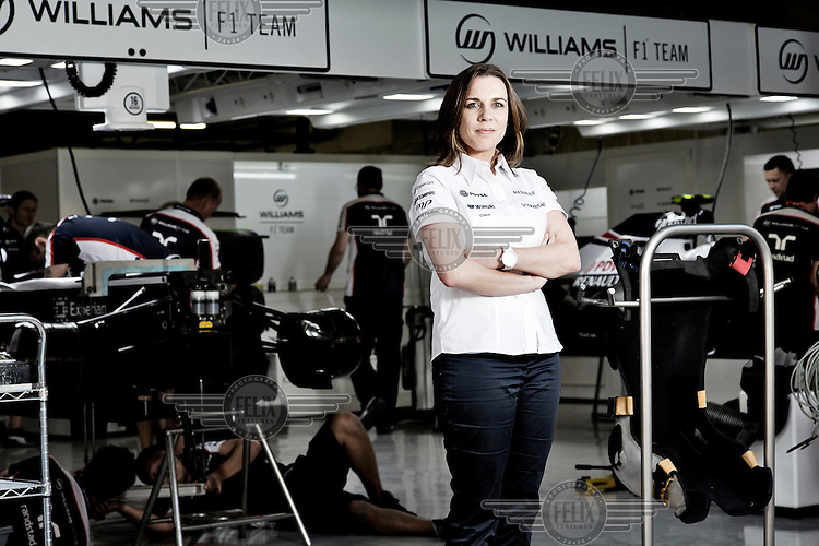 Claire Williams, the new appointed Deputy Principal of the Williams F1 Racing Team, at the Shanghai International Circuit.