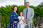 Sinead Spring from Listellick NS with her parents Graham and Carmel Spring at her First Holy Communion in St Brendan's Church on Saturday.