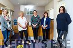 Staff members, Siobhan McSweeney, Carol Barry, Jacinta Bradley, Sharon Villa and Marisa Reidy in the reception of Recovery Haven.