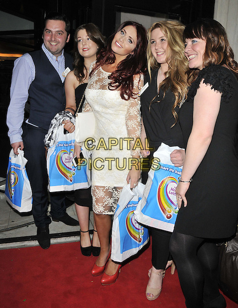LONDON, ENGLAND - JUNE 02: Amy Childs ( centre ) & guests attend the Health Lottery VIP tea party, The Savoy Hotel, The Strand, on Monday June 02, 2014 in London, England, UK.<br /> CAP/CAN<br /> ©Can Nguyen/Capital Pictures