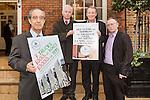 L- R Palestinian Ambassador to Ireland, Ahmad Abdelrazek, Sean Crowe, Brain Stanley & Dessie Ellis Pic: Angela Halpin
