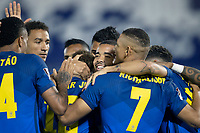 8th June 2021; Defensores del Chaco Stadium, Asuncion, Paraguay; Qatar 2022 qualifiers; Paraguay versus Brazil;  Players of Brazil celebrates scored goal by Neymar in the 4th minute 0-1