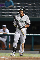 Dayton Dragons second baseman Ronald Bueno (11) at bat during a game against the South Bend Silver Hawks on August 20, 2014 at Four Winds Field in South Bend, Indiana.  Dayton defeated South Bend 5-3.  (Mike Janes/Four Seam Images)