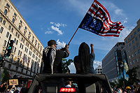 Protesters ride a Jeep during a march against police brutality and racism in Washington, D.C. on Saturday, June 6, 2020.<br /> Credit: Amanda Andrade-Rhoades / CNP/AdMedia
