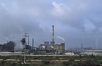 - chemical industrial area of Portoscuso-Portovesme (Sardinia)..- area industriale chimica di Portoscuso-Portovesme (Sardegna)
