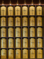 A pattern of box TWG tea (the finest teas of the world) in their store in Leicester square  on Februrary 05, 2019, in London, UK. (Photo by Adamo Di Loreto/BuenaVista*photo)