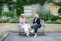 Taking a break between performances, Petworth House, Petworth Festival, West Sussex.