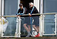 Ollie Robinson (L) of Sussex in discussion with coaching staff during Kent CCC vs Sussex CCC, LV Insurance County Championship Group 3 Cricket at The Spitfire Ground on 13th July 2021
