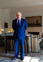 OCTOBER 15, 2015 -TOKYO, JAPAN:  London Mayor, Boris Johnsonat the British Embassy in Tokyo. The was in Japan to encourage collaboration between London and Japan in financial technology.  (Photo / Ko Sasaki  )