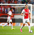 Nederland, Amsterdam, 15 augustus 2015<br /> Eredivisie<br /> Seizoen 2015-2016<br /> Ajax-Willem ll (3-0)<br /> Nemanja Gudelj van Ajax in actie met bal