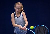 Hilversum, Netherlands, December 2, 2018, Winter Youth Circuit Masters, Evi Roobol (NED) winner girls 12 years.<br /> Photo: Tennisimages/Henk Koster