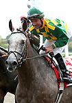 21 August 2010: PADDY O'PRADO and Jockey Kent Desormeaux come back to the winner's circle after winning the 34th running of the G1 Secretariat Stakes at Arlington Park in Arlington Heights, Illinois.
