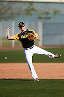 Spencer Honald (7) of The Dalles High School in The Dalles, Oregon during the Baseball Factory All-America Pre-Season Tournament, powered by Under Armour, on January 14, 2018 at Sloan Park Complex in Mesa, Arizona.  (Zachary Lucy/Four Seam Images)