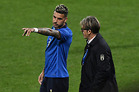Emerson Palmieri of Italy and Assistant Coach Alberico Evani during the friendly football match between Italy and Estonia at Artemio Franchi Stadium in Firenze (Italy), November, 11th 2020. Photo Andrea Staccioli/ Insidefoto